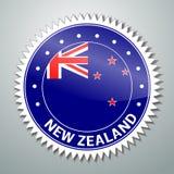 Etiqueta de la bandera de Nueva Zelanda stock de ilustración