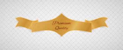 Etiqueta de la calidad del oro ilustración del vector
