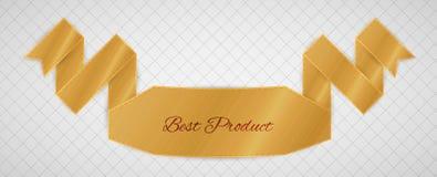 Etiqueta de la calidad del oro Imagen de archivo libre de regalías
