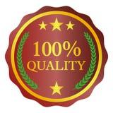 Etiqueta de la calidad en el fondo blanco Ilustración del vector Imagen de archivo libre de regalías