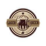 Etiqueta de la cerveza del vintage Diseñe los elementos para el logotipo, etiqueta, emblema, muestra, menú fotografía de archivo