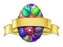 Etiqueta de la cinta de Pascua Fotos de archivo libres de regalías