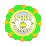 Etiqueta de la colección de la primavera Foto de archivo