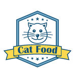 Etiqueta de la comida para gatos Fotografía de archivo