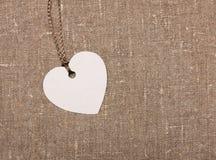 Etiqueta de la etiqueta de la forma del corazón Foto de archivo libre de regalías