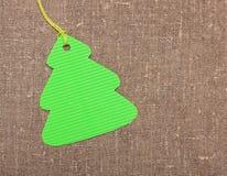 Etiqueta de la etiqueta del árbol de navidad Foto de archivo