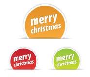 Etiqueta de la Feliz Navidad Fotografía de archivo