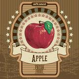 Etiqueta de la fruta Imagenes de archivo