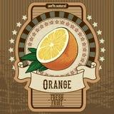Etiqueta de la fruta Fotografía de archivo