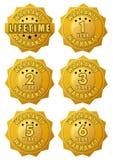 Etiqueta de la garantía del oro fotos de archivo