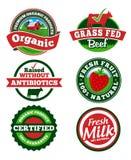 Etiqueta de la granja stock de ilustración