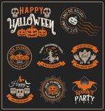 Etiqueta de la insignia de Halloween y diseño de los marcos Imagen de archivo libre de regalías