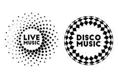 Etiqueta de la música Imagen de archivo libre de regalías