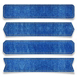 Etiqueta de la mezclilla azul Imagenes de archivo