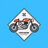 Etiqueta de la moto del vintage Imágenes de archivo libres de regalías