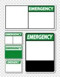 etiqueta de la muestra de la emergencia del símbolo en fondo transparente libre illustration