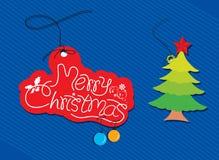 Etiqueta de la Navidad Imagen de archivo
