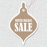 Etiqueta de la Navidad Imagen de archivo libre de regalías