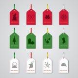 Etiqueta de la Navidad Fotos de archivo libres de regalías