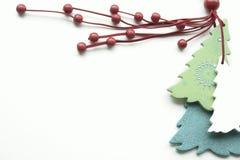 Etiqueta de la Navidad foto de archivo