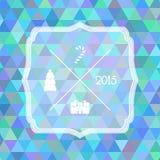 Etiqueta de la Navidad Fondo triangular multicolor Fotografía de archivo