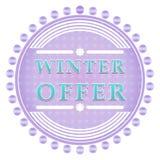 Etiqueta de la oferta del invierno Fotos de archivo libres de regalías