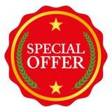 Etiqueta de la oferta especial Fotografía de archivo