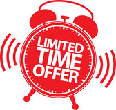 Etiqueta de la oferta por tiempo limitado, ejemplo del vector Foto de archivo