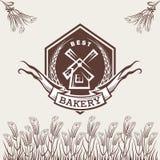 Etiqueta de la panadería Imagen de archivo