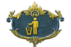 Etiqueta de la papelera de reciclaje Imagen de archivo libre de regalías