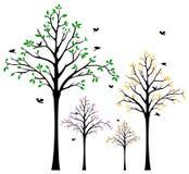 Etiqueta de la pared del árbol ilustración del vector