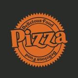 Etiqueta de la pizza Foto de archivo