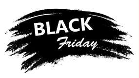 Etiqueta de la promoción de Black Friday en estilo del Grunge Stock de ilustración