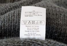 Etiqueta de la ropa Imagen de archivo libre de regalías
