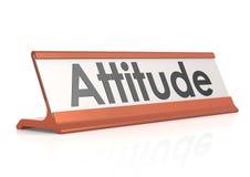 Etiqueta de la tabla de la actitud Fotografía de archivo