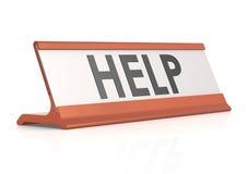 Etiqueta de la tabla de la ayuda Foto de archivo libre de regalías