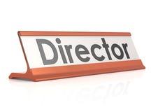 Etiqueta de la tabla del director stock de ilustración