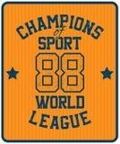 Etiqueta de la tipografía del deporte Stock de ilustración