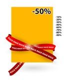 Etiqueta de la venta Fotografía de archivo libre de regalías