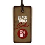 Etiqueta de la venta de Black Friday, bandera, haciendo publicidad Fotografía de archivo libre de regalías