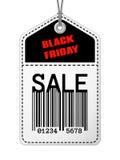 Etiqueta de la venta de Black Friday del vintage Imagenes de archivo