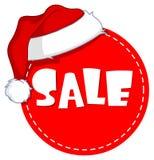 Etiqueta de la venta de la Navidad Fotos de archivo libres de regalías