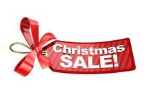 Etiqueta de la venta de la Navidad Imagenes de archivo
