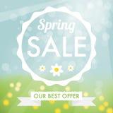 Etiqueta de la venta de la primavera libre illustration