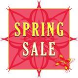 Etiqueta de la venta de la primavera Imágenes de archivo libres de regalías