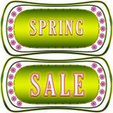 Etiqueta de la venta de la primavera Foto de archivo libre de regalías