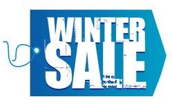 Etiqueta de la venta del invierno Imágenes de archivo libres de regalías