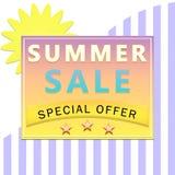 Etiqueta de la venta del verano Fotografía de archivo