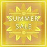 Etiqueta de la venta del verano Foto de archivo
