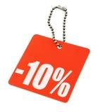 Etiqueta de la venta en fondo blanco puro Imágenes de archivo libres de regalías